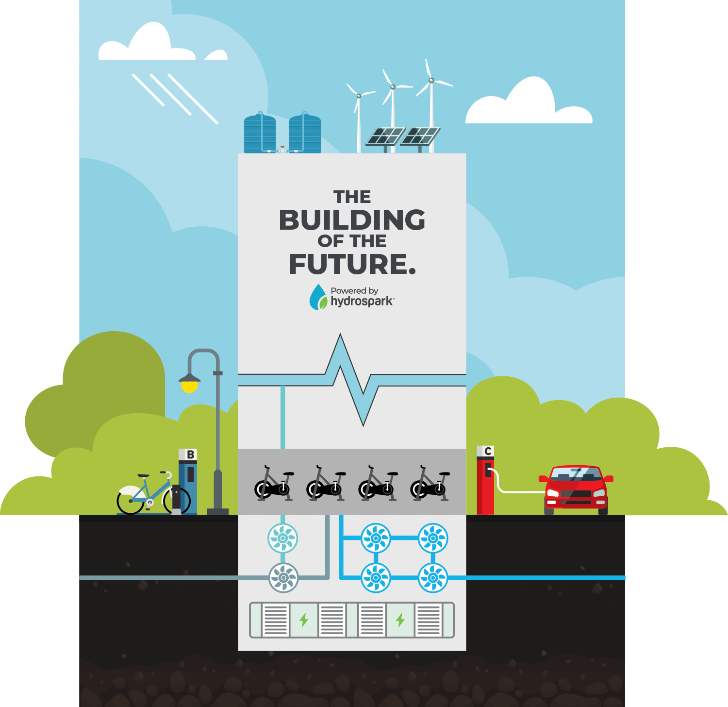 The Building of the Future, Powered by Hydrospark