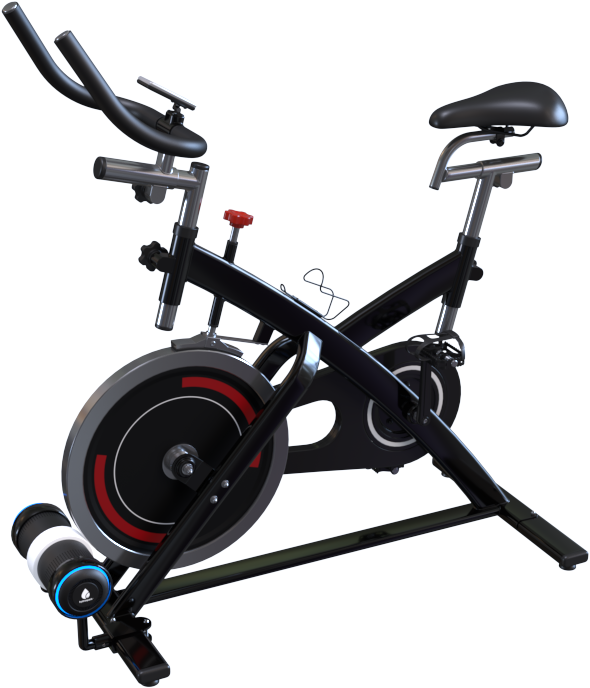 Stationary Bike, retrofitted with a Hydrospark PowerCore friction drive.